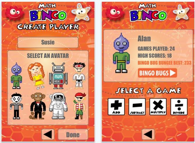Math bingo spelen