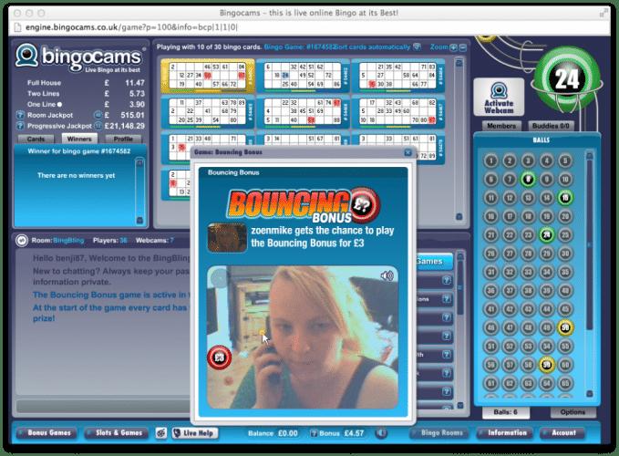 Bingocams - voorbeeld van bingo met webcams