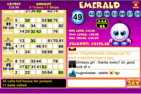 mFortune bingo spel voor Android